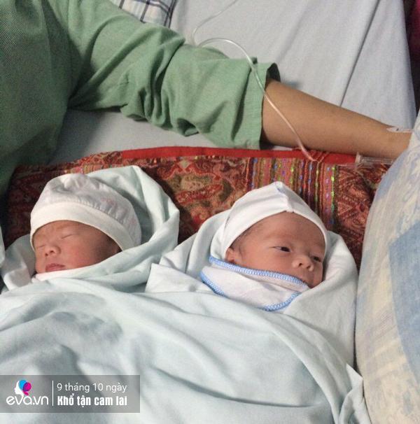 Hai bé Trọng và Phúc.