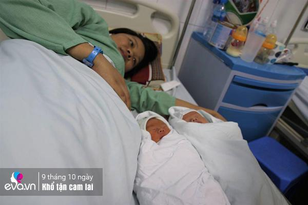 Suốt khoảng thời gianmang thai, chị phải ở viện để theo dõi tình hình con.