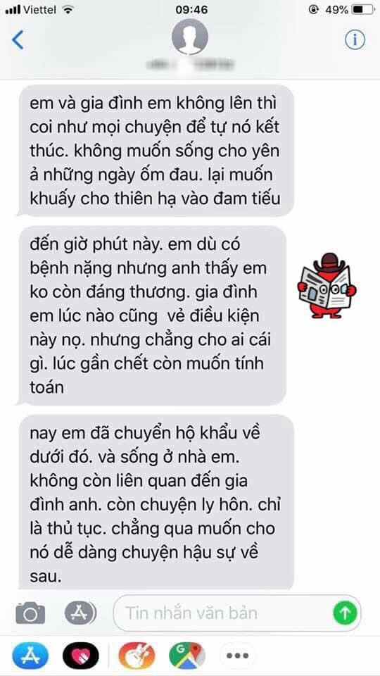 vo bi ung thu mau, chong chuyen khau tra ve nha ngoai de tu do song voi bo - 4