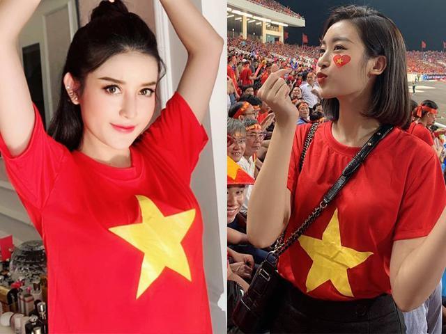 Bất ngờ trước phản ứng của Đỗ Mỹ Linh, Huyền My trên khán đài AFF khi Việt Nam chiến thắng