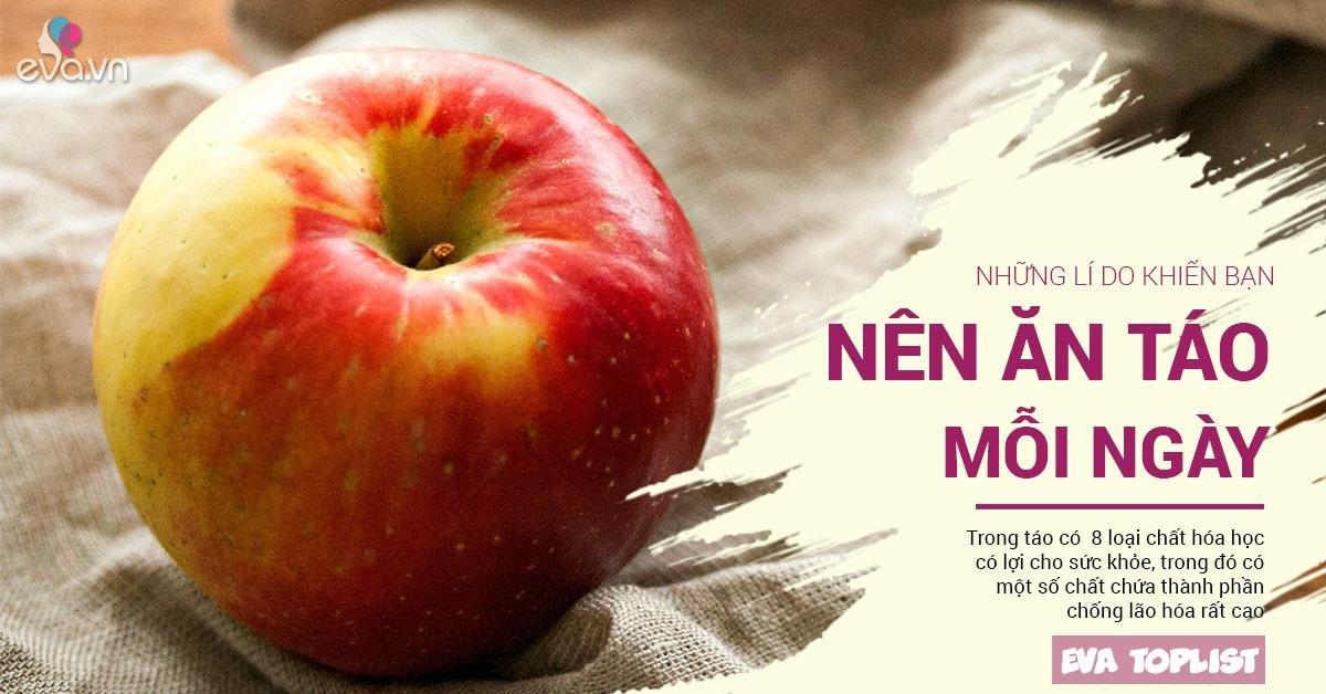 """Những lý do để táo trở thành thực phẩm """"vàng"""" số 1 cho cả gia đình"""