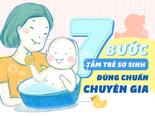 7 bước tắm trẻ sơ sinh đúng chuẩn chuyên gia