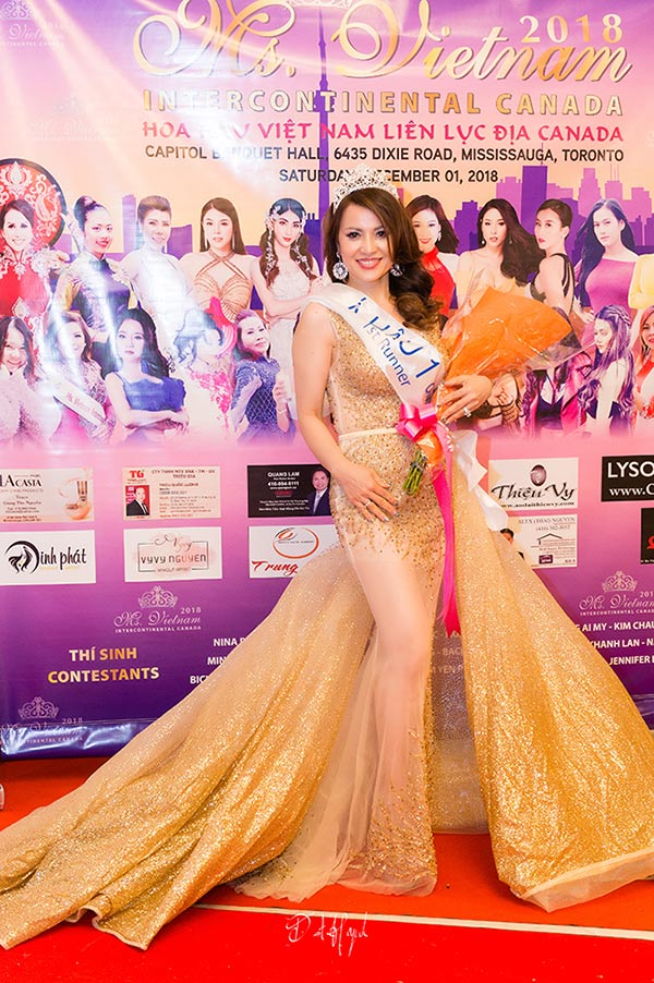 doanh nhan nina phuong dang quang a hau 1 mrs viet nam intercontinental 2018 tai canada - 4
