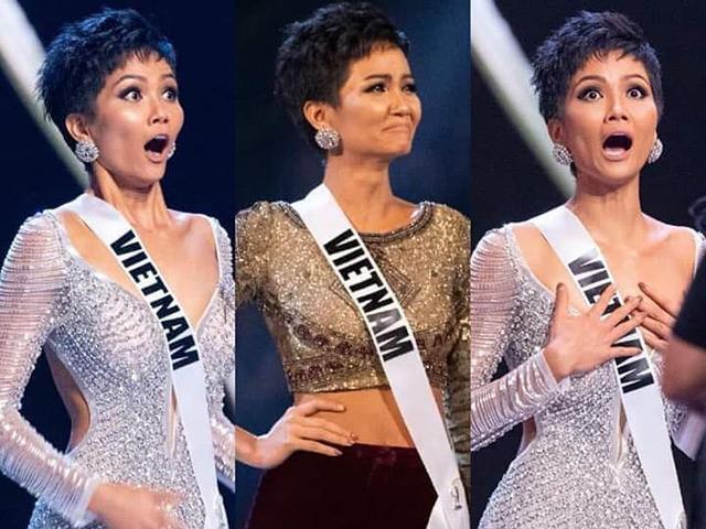 Chết cười với 50 sắc thái của Hoa hậu bình dân HHen Niê khi lọt Top 5 Miss Universe