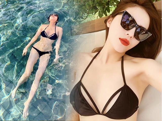 Dù đông hay hè, khi nào Kỳ Duyên cũng có thể diện bikini, khoe triệt để vòng 1 gợi cảm