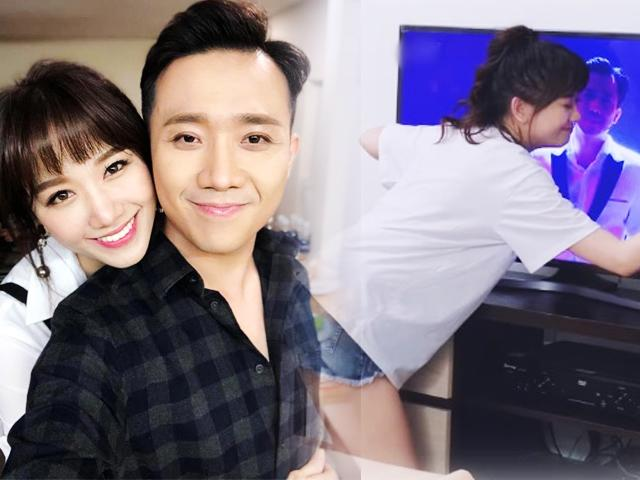 Đã kết hôn 2 năm, Hari Won vẫn phát cuồng, ôm tivi không rời khi thấy Trấn Thành
