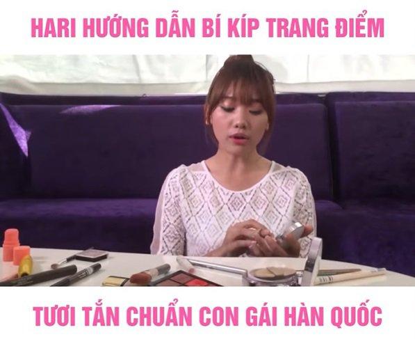 Cười bể bụng với màn hướng dẫn make up kiểu Hàn Quốc amp;#34;một mất một cònamp;#34; của Hari Won - 1
