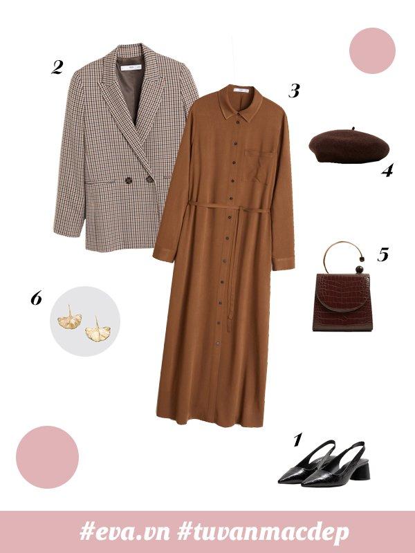 Những cách phối đồ cho các bạn nữ mủm mỉm mùa thu đông - 3