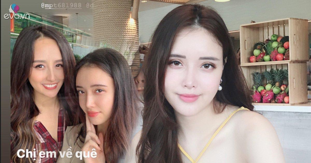 Mai Phương Thuý vô tình để lộ mặt mộc không tỳ vết của em gái bằng bức ảnh selfie