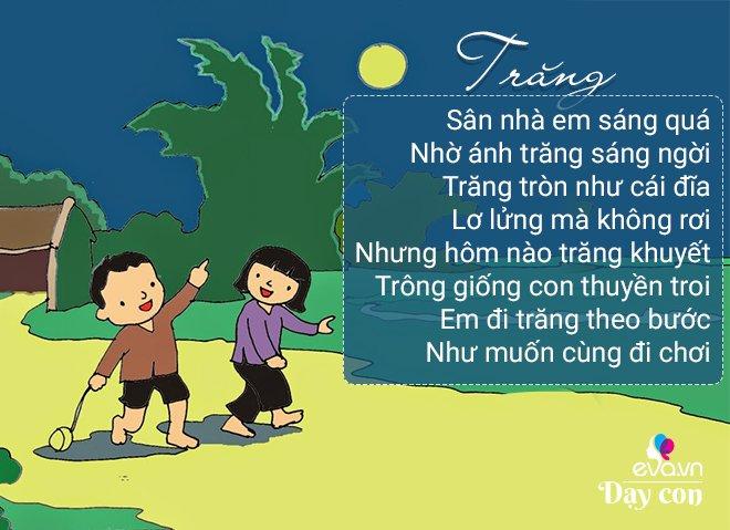 11 bài thơ dân gian cho trẻ 3-4 tuổi phát triển trí não thông minh