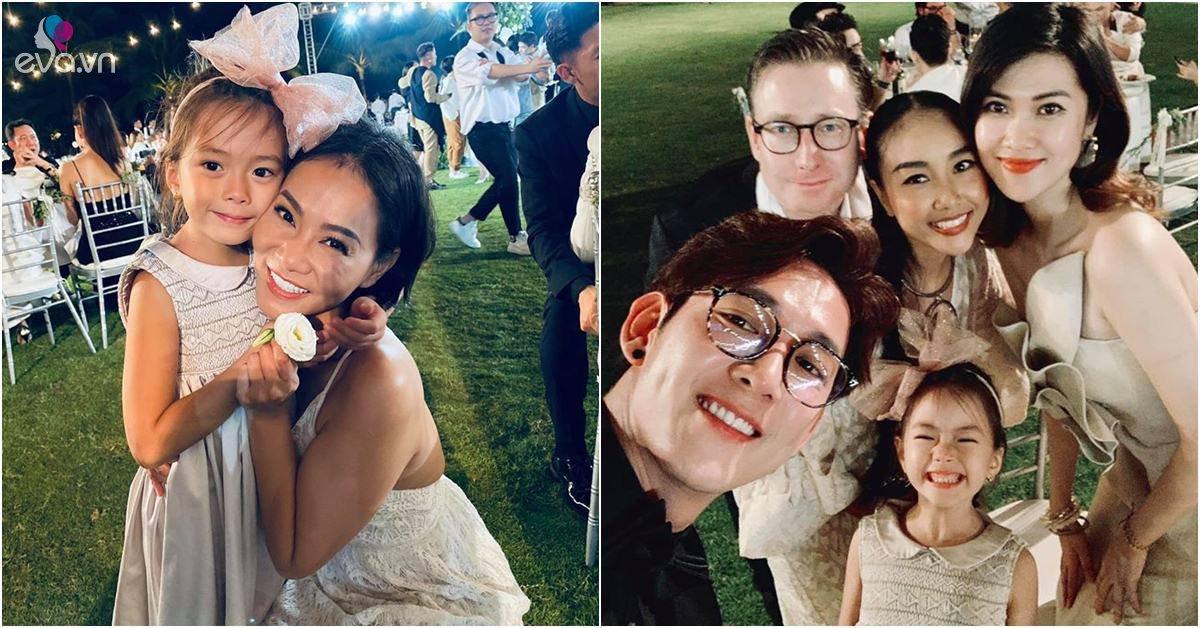 Bé gái xinh khiến sao Việt xin chụp ảnh ké trong đám cưới Đông Nhi, thân thế cũng không vừa