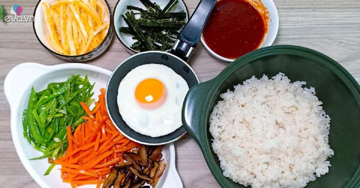Trổ tài làm cơm trộn Hàn Quốc vừa đẹp mắt lại ngon miệng đảm bảo chàng phải liêu xiêu