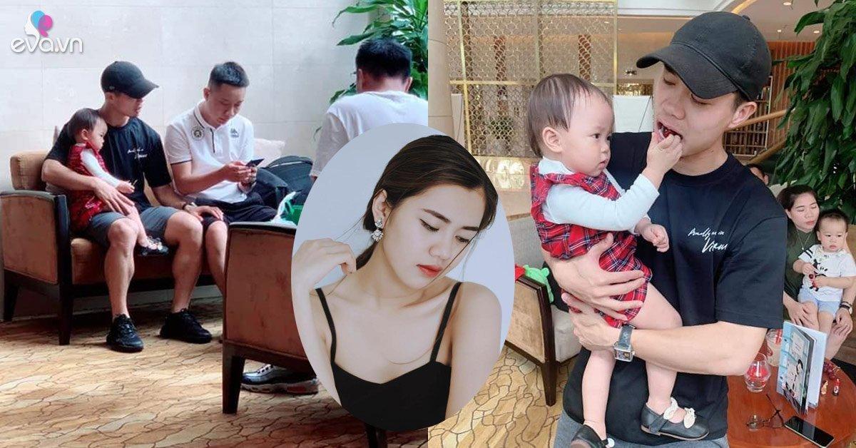 Con gái Hoa khôi ĐH Vinh được Công Phượng đặc biệt quan tâm, cưng nựng khi vừa về Việt Nam