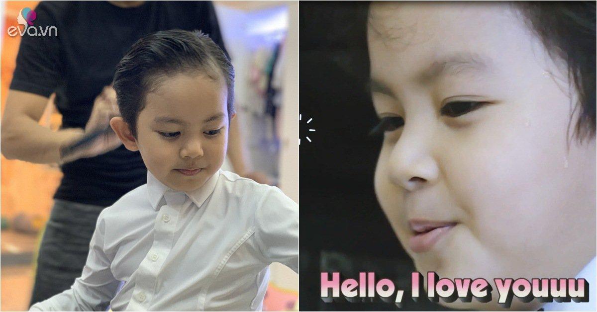 Con trai Khánh Thi đẹp trai lồng lộng nhưng có một tính xấu làm bố mẹ đau đầu