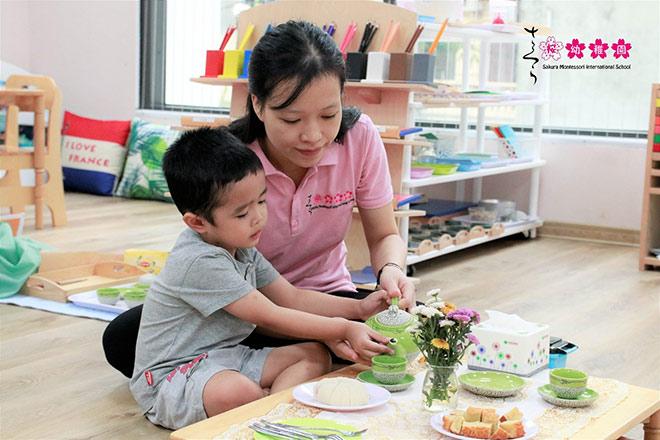 sakura montessori trien khai he nang cao cho tre mam non - 1