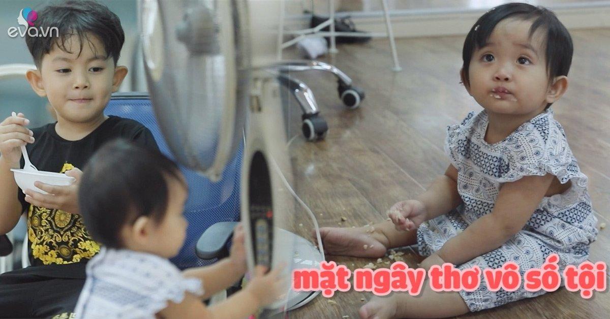 Dở khóc dở cười xem cảnh con trai Khánh Thi khổ sở chăm sóc em gái, gọi Anna là bà