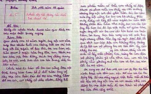 Bài văn tả về gia đình của học sinh lớp 8 khiến người lớn phải tự xấu hổ