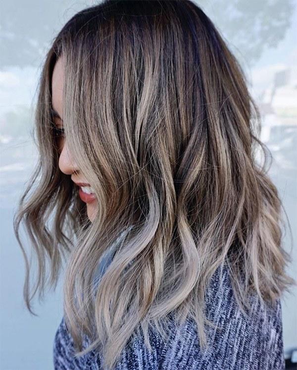 15 màu tóc nâu khói đẹp được yêu thích nhất dẫn đầu xu hướng năm 2020 - 9