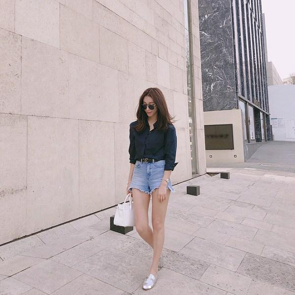 Kiểu quần short hợp thời tiết mát mẻ, nàng diện xuống phố đảm bảo cá tính và sành điệu - 4