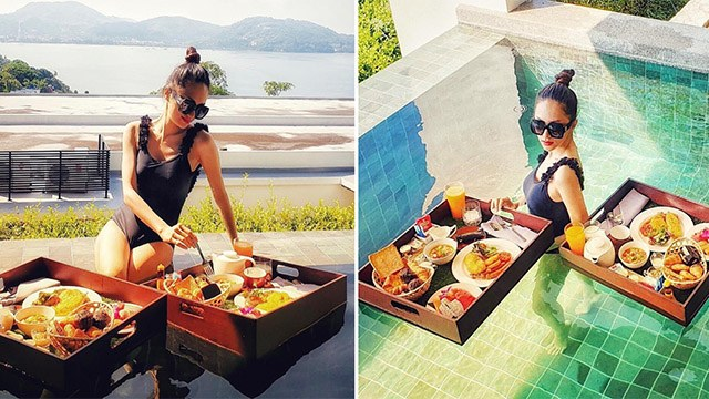 Soi bữa sáng dưới bể bơi của mỹ nhân Việt, tìm ra công thức ăn ngon giữ dáng chuẩn - 8