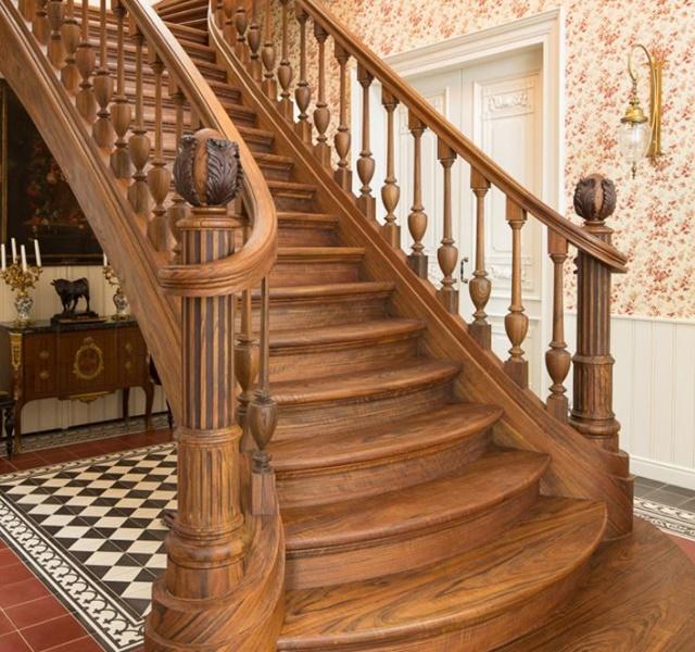 Mẫu cầu thang gỗ đẹp hiện đại, đơn giản làm nổi bật ngôi nhà - 8