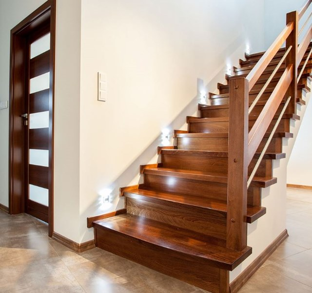 Mẫu cầu thang gỗ đẹp hiện đại, đơn giản làm nổi bật ngôi nhà - 4