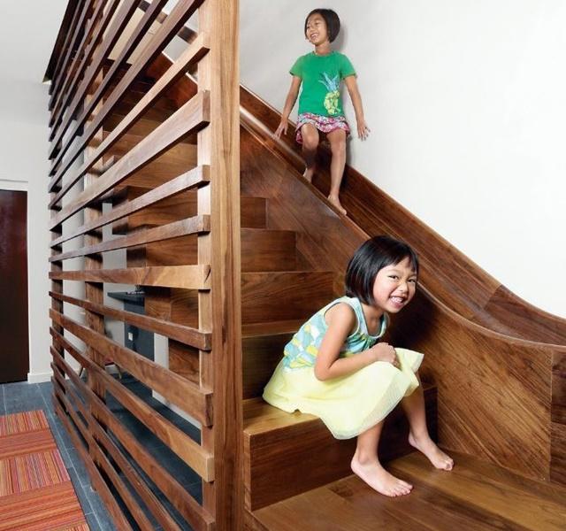 Mẫu cầu thang gỗ đẹp hiện đại, đơn giản làm nổi bật ngôi nhà - 7