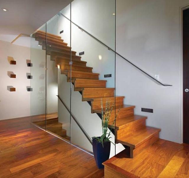 Mẫu cầu thang gỗ đẹp hiện đại, đơn giản làm nổi bật ngôi nhà - 19