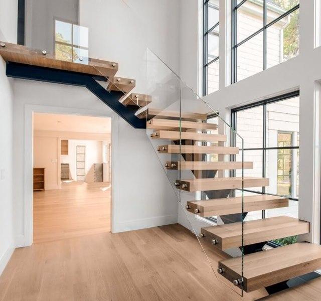 Mẫu cầu thang gỗ đẹp hiện đại, đơn giản làm nổi bật ngôi nhà - 18