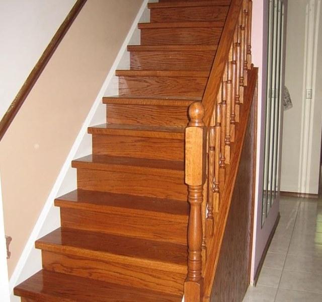 Mẫu cầu thang gỗ đẹp hiện đại, đơn giản làm nổi bật ngôi nhà - 3