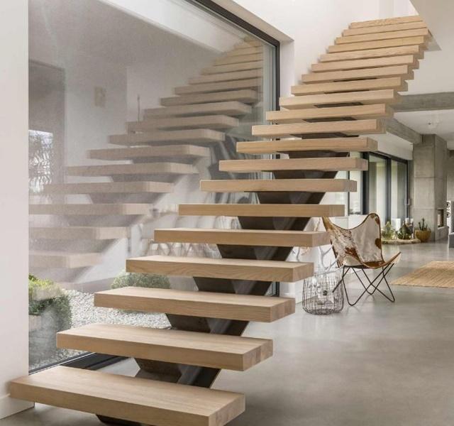 Mẫu cầu thang gỗ đẹp hiện đại, đơn giản làm nổi bật ngôi nhà - 9