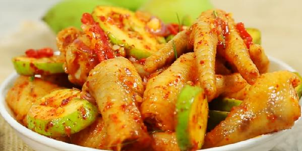 Cách làm chân gà sốt Thái chua ngọt cay cay hấp dẫn ăn mãi không chán-8
