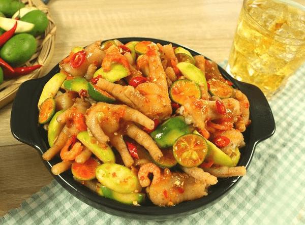 Cách làm chân gà sốt Thái chua ngọt cay cay hấp dẫn ăn mãi không chán-7