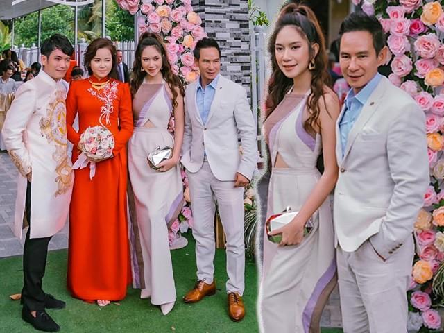 Về quê ăn cưới cháu gái, Lý Hải - Minh Hà tỏa sáng rực rỡ với váy áo lộng lẫy