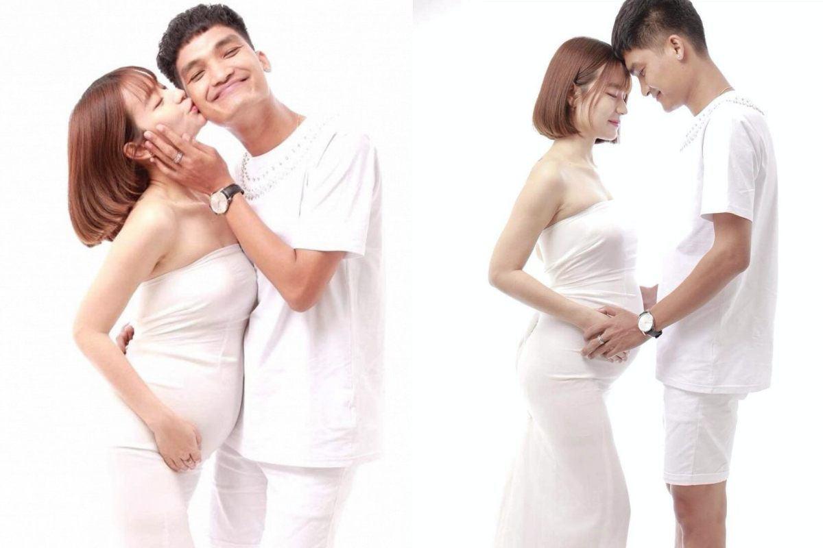 Hẹn hò 5 năm nhưng chưa cưới, Mạc Văn Khoa khoe bạn gái mang bầu to như sắp đẻ - 3