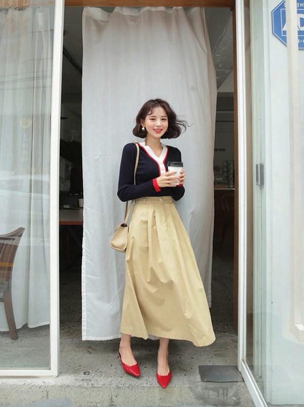 Các mẫu chân váy độc quyền dành cho ngày se lạnh, nàng cứ diện vào là thừa duyên dáng - 5