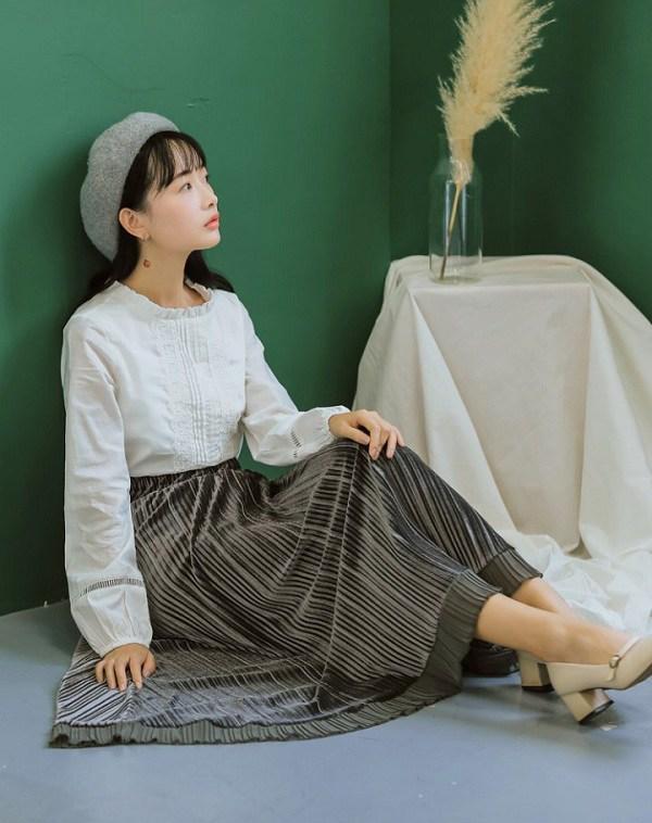 Các mẫu chân váy độc quyền dành cho ngày se lạnh, nàng cứ diện vào là thừa duyên dáng - 15