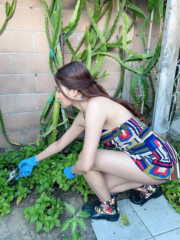 amp;#34;Gái nhảyamp;#34; Minh Thư mặc bikini ra vườn hái bưởi, quả nào quả nấy căng tràn vẫn bị chê - 11