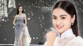 Cận cảnh nhan sắc đẹp như tranh của thí sinh thấp nhất Hoa hậu Việt Nam 2020