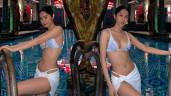 Em gái mưa Ngọc Trinh diện bikini nhỏ xíu khoe vòng một bốc hơn cả chị