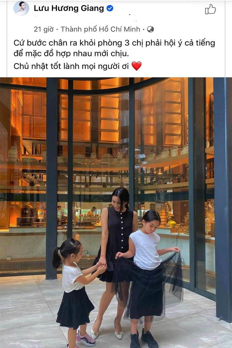 Nhà có hai nàng tiên, Lưu Hương Giang mất cả tiếng hội ý để mặc đồ đồng điệu cùng con - 1