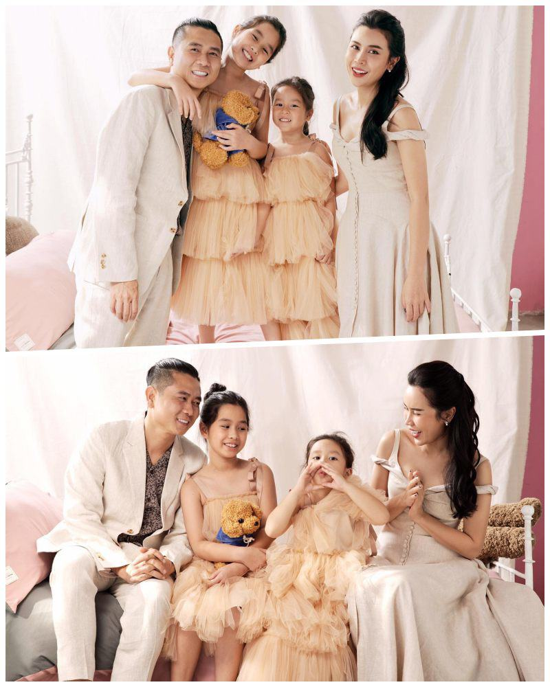Nhà có hai nàng tiên, Lưu Hương Giang mất cả tiếng hội ý để mặc đồ đồng điệu cùng con - 4