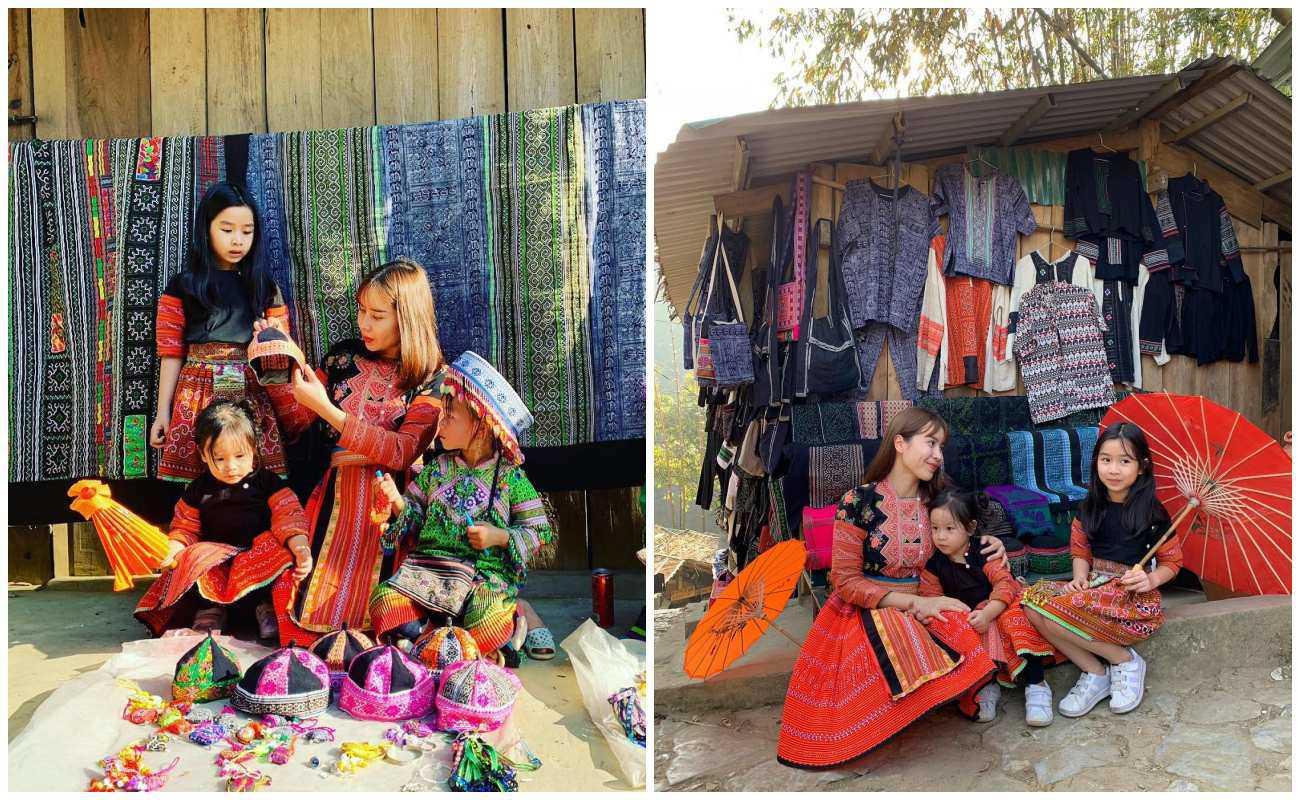Nhà có hai nàng tiên, Lưu Hương Giang mất cả tiếng hội ý để mặc đồ đồng điệu cùng con - 8