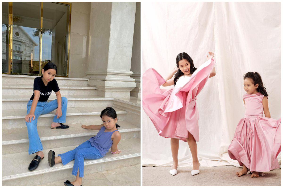 Nhà có hai nàng tiên, Lưu Hương Giang mất cả tiếng hội ý để mặc đồ đồng điệu cùng con - 9