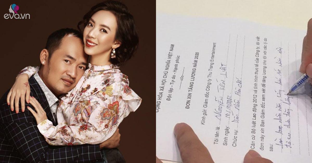 Tiến Luật viết đơn xin vợ tăng lương, Thu Trang xé nát làm chồng uất nghẹn