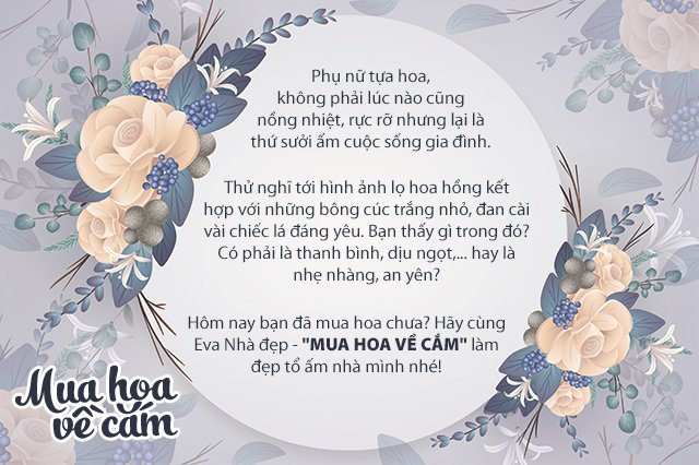 """Mẹ Việt tự tay cắm hoa 20/10, nhìn đến ảnh chim công, dân mạng thốt lên """"nức nở"""" - 1"""