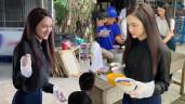 Lột hết hàng hiệu khi đi từ thiện, Hương Giang được khen xinh đẹp như nàng tiên