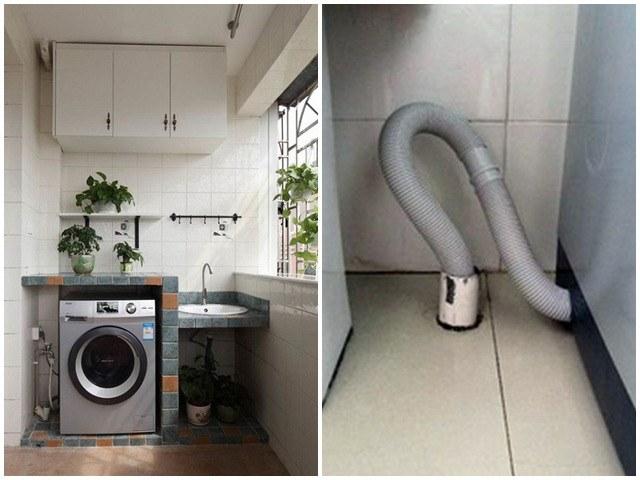 Tại sao đường ống thoát nước của máy giặt không thể luồn trực tiếp vào đường thoát sàn?