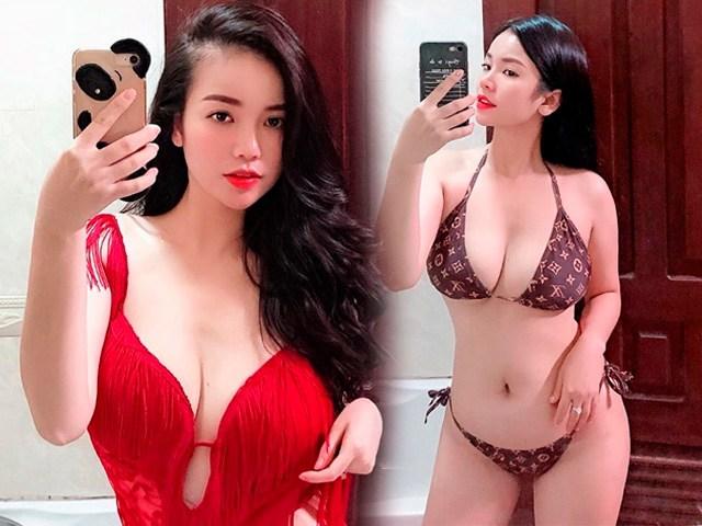 Xuất hiện đối thủ có ngực khủng ngang bằng hot girl Hải Dương: vòng 1 vượt 100cm