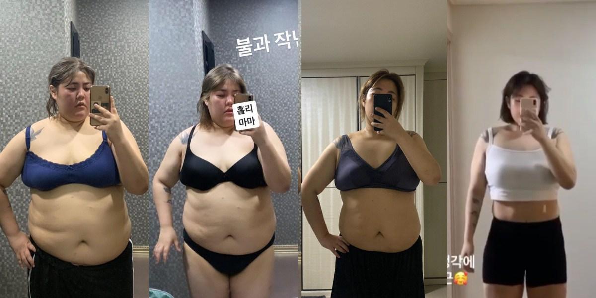 Thánh ăn Hàn Quốc từng nặng 130kg nay đã khác, vòng 2 phẳng lì, đôi chân giống hệt Miu Lê - 3